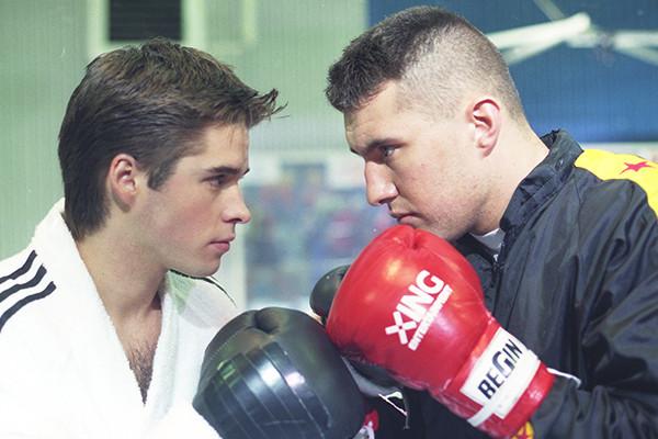 Anthony Dupray et Jérôme Le Banner dans le clip Champion