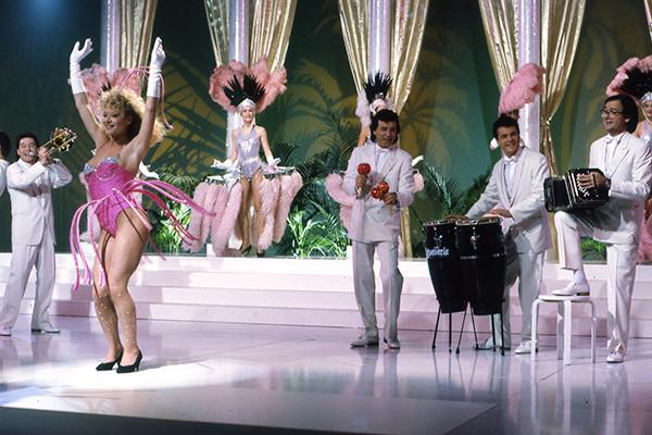 Les Musclés sur le tournage du clip Le chacha d'Isabelle