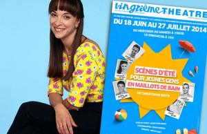 Visuel Scènes d'été pour jeunes gens en maillots de bain avec Ariane Carletti du Club Dorothée