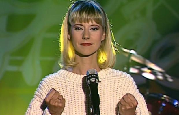Dorothée dans le clip Dou dou dou en 1989