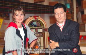 Dorothée et Christian Clavier au Club Dorothée en 1995
