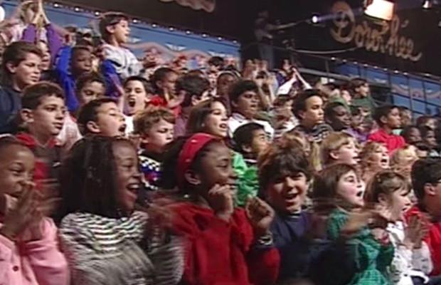 Les enfants dans le public du Club Dorothée
