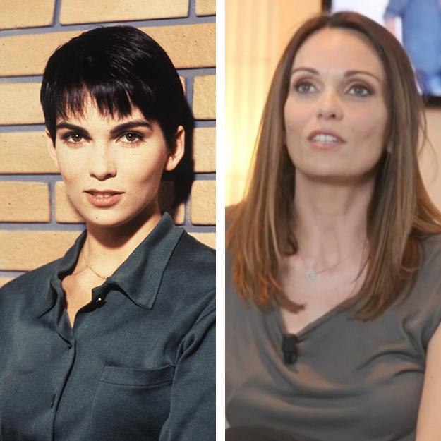 Cathy Andrieu en 1992 et en 2016